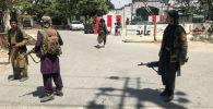 Силы Талибана охраняют Кабул, Афганистан, 16 августа 2021 года