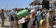 Афганские беженцы на пакистанской границе