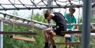 На территории терренкура уютно расположились спортивные и детские площадки
