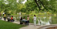 Недавно обновленный и перестроенный парк в центре города уже стал излюбленным местом для неспешных прогулок в черте Алматы