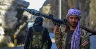 Боец сил афганского сопротивления в Панджшере