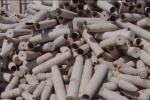 Металлолом из фрагментов снарядов из Арыси