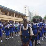 Школьники в Сьерра-Леоне