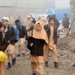 Пакистанские дети в школе в Пешаваре