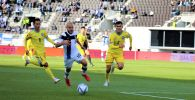Момент матча Финляндия - Казахстан в рамках отборочного тура на Чемпионат мира по футболу