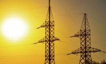 Высоковольтная линия электропередачи. Казахстан