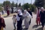 Столкновения талибов с женщинами в Кабуле - видео