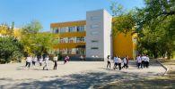 Дети возле здания школы