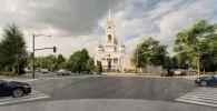 Эскиз нового православного храма в Петропавловске