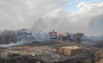 Пожар на дачах в Степногорске