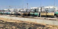 Цистерна с бензином загорелась на юге Казахстана