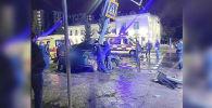 Автомобиль влетел в светофор в Петропавловске