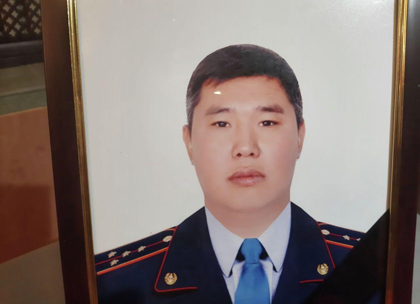 Погибший в перестрелке полицейский Нурбол Байгазиев