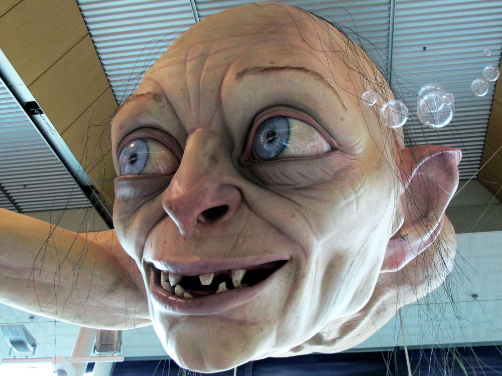 Фигура Горлума в аэропорту Веллингтона