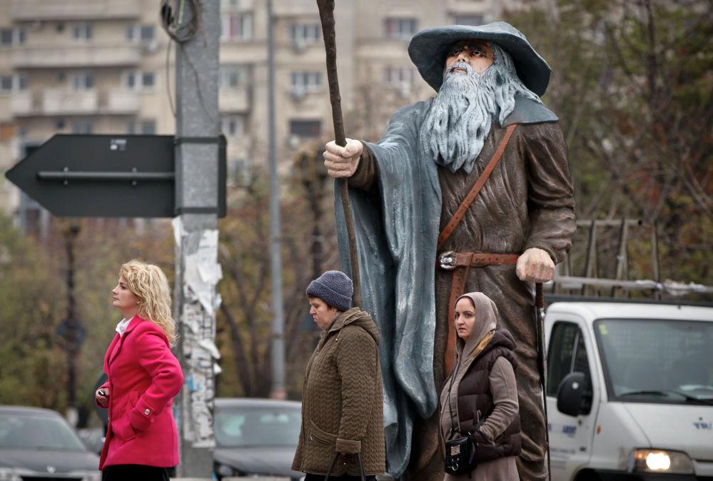 Фигура Гэндальфа в Бухаресте