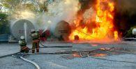 Взрыв бензовоза предотвратили Жаксынские пожарные