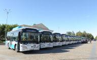 Талдықорғандағы газбен жүретін автобустар
