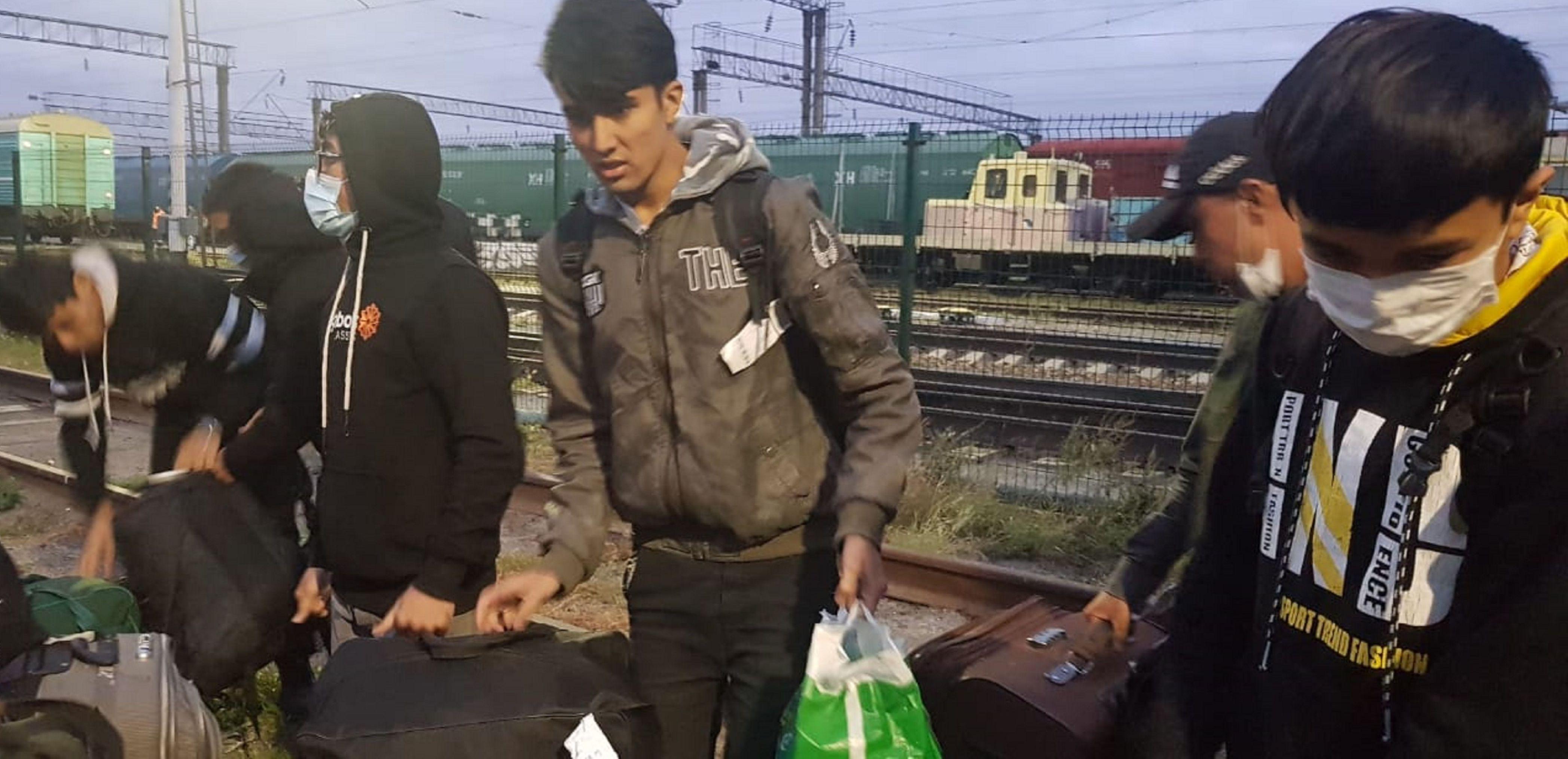 Кандасы из Афганистана прибыли в Кокшетау в отдельном вагоне