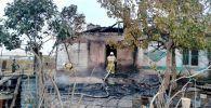 Пожар в селе близ Степногорска
