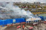 Пожар в ТД Астыкжан в Нур-Султане