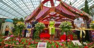 Казахская юрта на выставке в Сингапуре