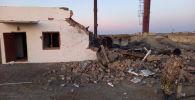 В поселке Тасарык на  территорий средней школы №238 произошел взрыв отопительного котла