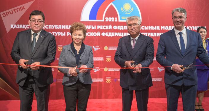 Открытие Дней культуры РФ в Казахстане. Выставка Вологодские кружева