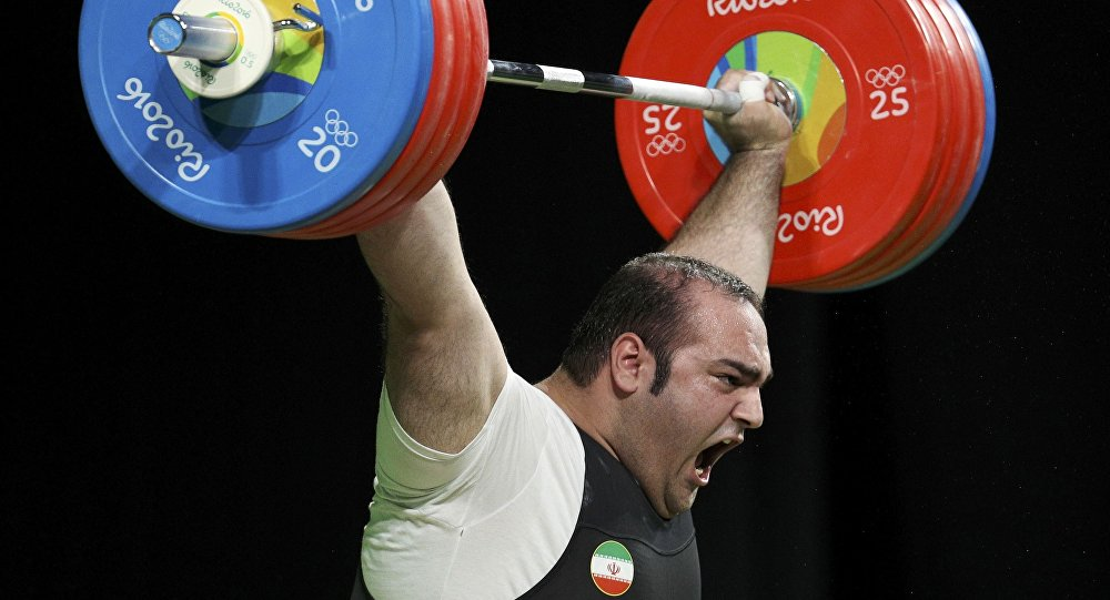 Штангист из Ирана Бехдад Салими