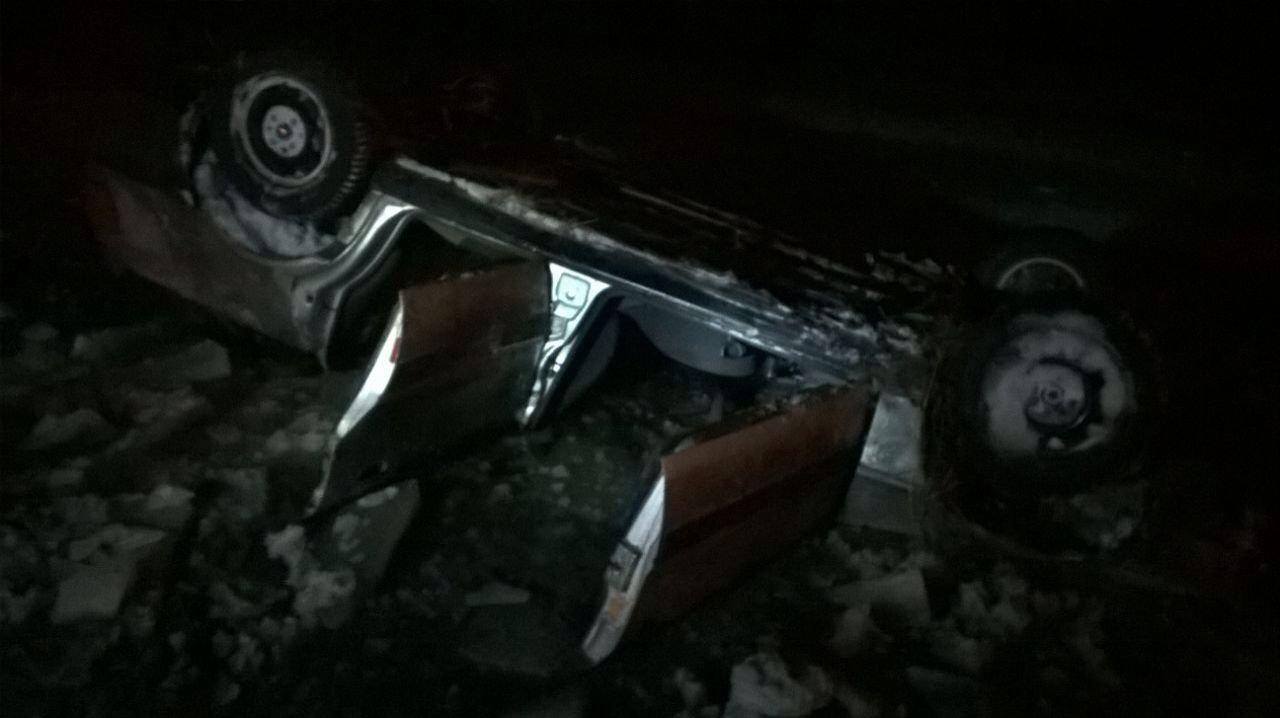 Перевернувшееся авто в СКО