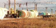 Ақмола облысында дизель отынын тасымалдайтын бес вагон аударылды