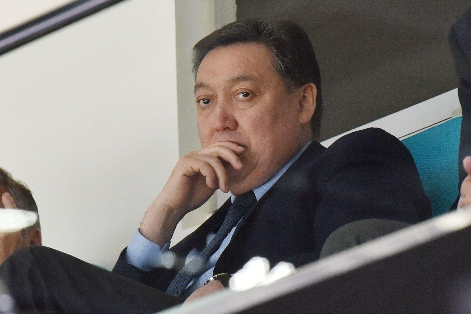 За игрой на Барыс Арене наблюдал премьер-министр Казахстана, президент Казахстанской федерации хоккея с шайбой Аскар Мамин