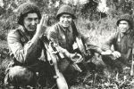 Снайперы Абиль Нусупбаев, Тулеугали Абдыбеков, Анарбай Ержанов (слева направо)