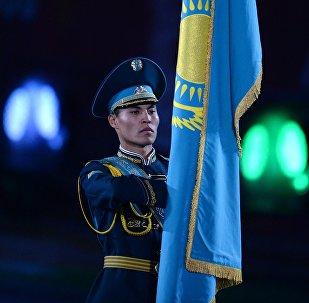 Церемония закрытия Международного военно-музыкального Фестиваля Спасская башня