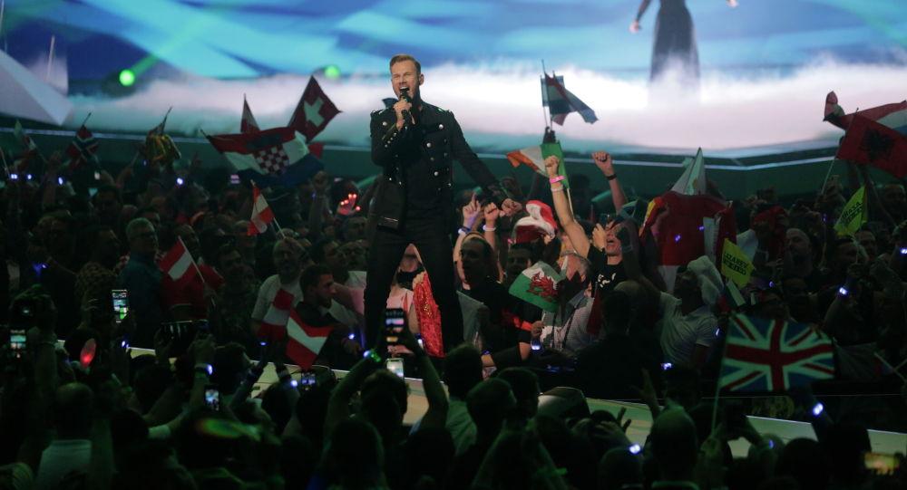 Участник во время второго полуфинала Евровидения-2019 в Тель-Авиве, Израиль