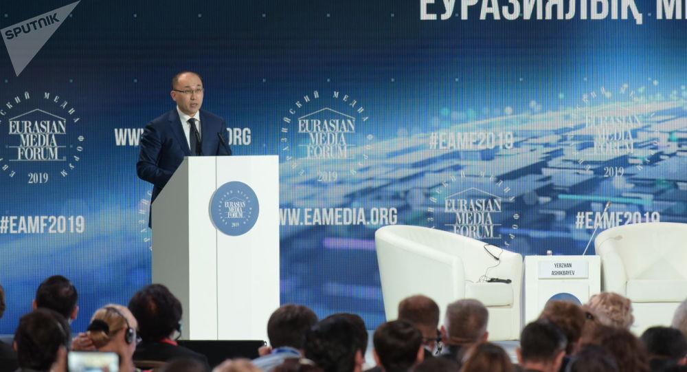 Министр информации и общественного развития Даурен Абаев