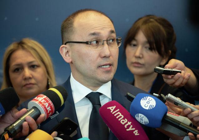 Министр информации и общественного развития Даурен Абаев. Евразийский Медиа Форум 2019