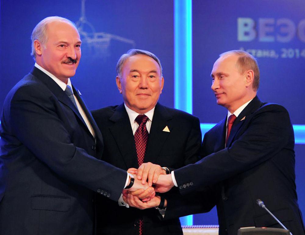 Участие в церемонии подписания Договора о Евразийском экономическом союзе Астана, Дворец Независимости, 29 мая 2014 год