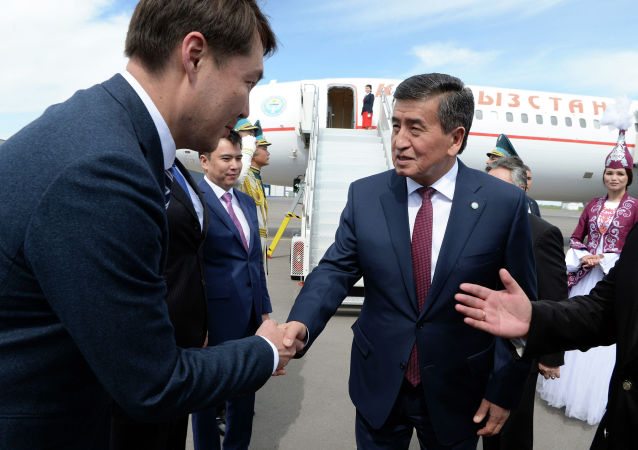 Президент Кыргызстана Сооронбай Жээнбеков прибыл в Нур-Султан