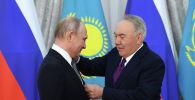 Нұрсұлтан Назарбаев пен Владимир Путин, архивтегі фото