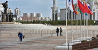 Территория дворца Независимости и вся площадь Қазақ елі, включая здание университета искусств находится в оцеплении сотрудников службы безопасности