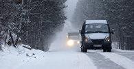 Архивное фото трассы зимой