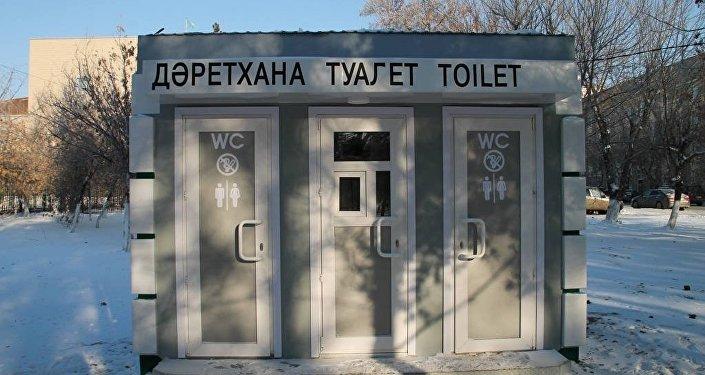 Общественный туалет в центре Павлодара
