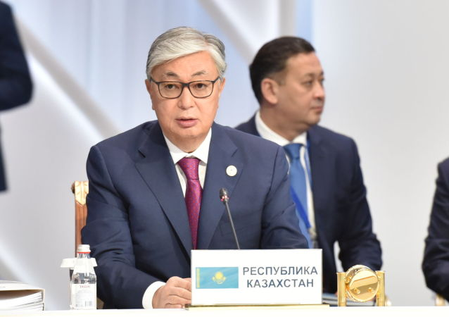 Президент Казахстана Касым-Жомарт Токаев на расширенном заседании ВЕЭС