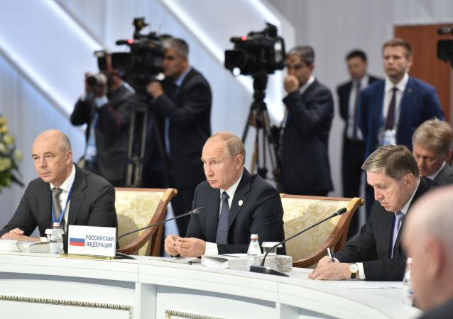 Президент России Владимир Путин на расширенном заседании ВЕЭС