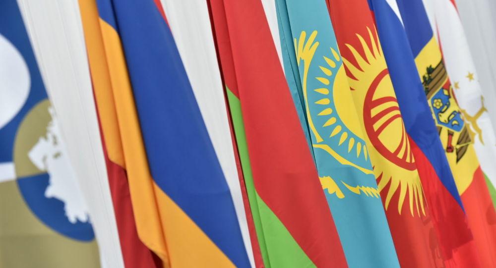 Флаги стран-участниц ЕАЭС