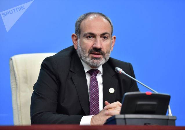 Премьер-министр Армении Никол Пашинян на расширенном заседании ВЕЭС