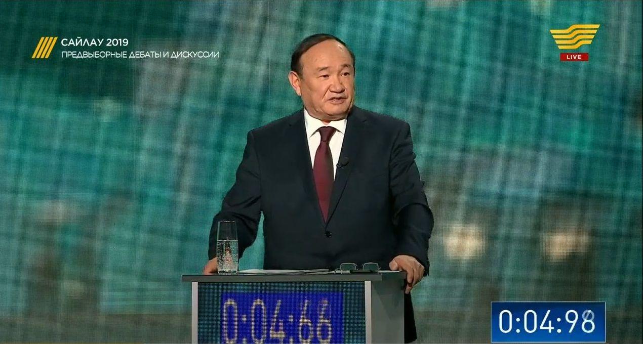 Представитель кандидата от партии Ауыл (доверенное лицо Толеутая Рахимбекова) Али Бектаев