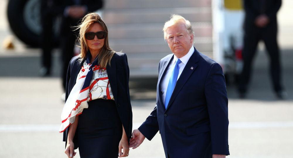 Президент США Дональд Трамп и первая леди Мелания Трамп прибыли с госвизитом в Великобританию