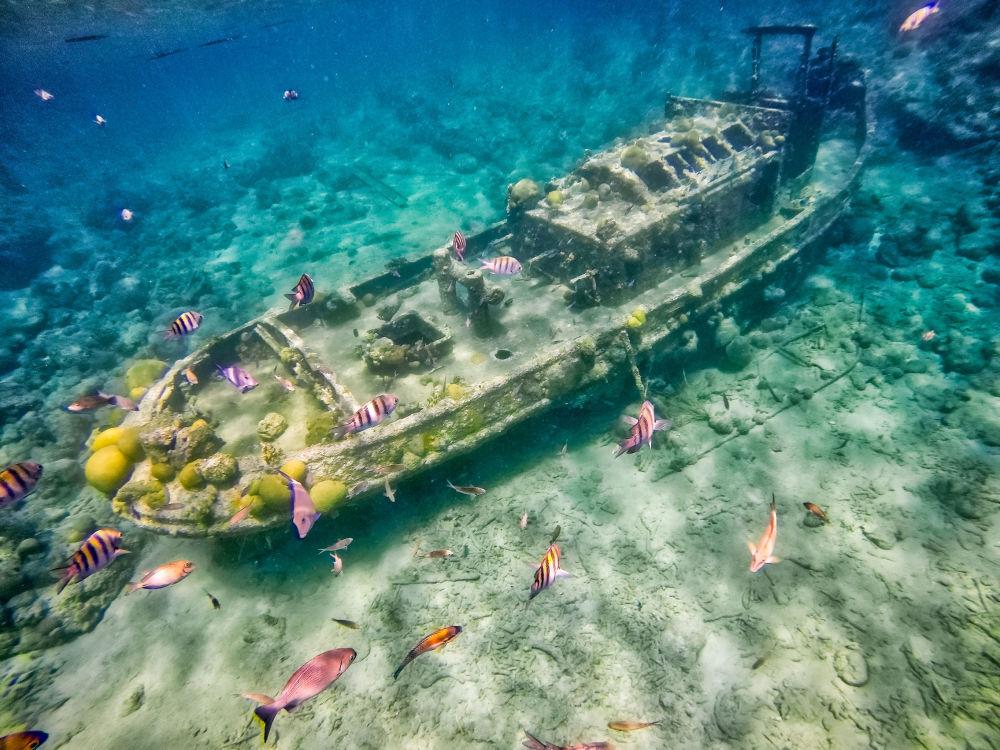 что фотографии островов и затонувших на них катеров использования