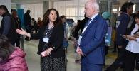 Председатель Исполнительного комитета - исполнительный секретарь СНГ Сергей Лебедев на избирательном участке